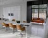 meble kuchenne nowoczesne mdf biały wysoki połysk sprzęt w zabudowie