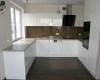 meble kuchenne biały wysoki połysk szkło lakobel brązowy
