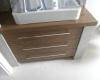 meble łazienkowe szafka pod umywalkę orzech