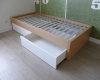 łóżko dąb bielony