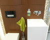 meble łazienkowe fornirowane zabudowa wc bidet geberit