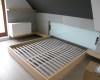 łózko dębowe rama łóżka