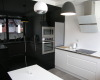 meble kuchenne czarny wysoki połysk